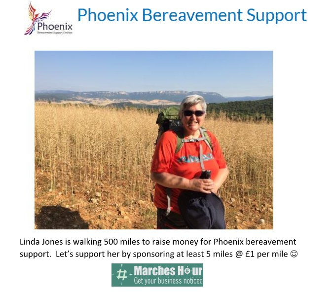 Linda Jones - Raising money for Phoenix bereavement support
